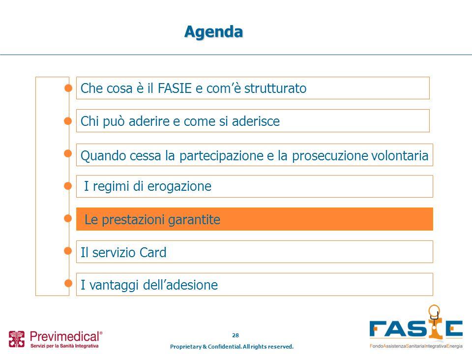Proprietary & Confidential. All rights reserved. 28 Che cosa è il FASIE e comè strutturato Agenda Chi può aderire e come si aderisce Il servizio Card