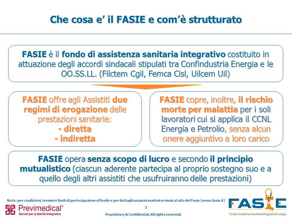 Proprietary & Confidential. All rights reserved. 3 Che cosa e il FASIE e comè strutturato FASIE è il fondo di assistenza sanitaria integrativo costitu