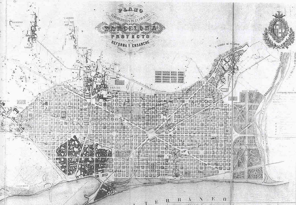 ILDEFONSO CERDA Cerdà Ildefonso y Suñer (Barcellona 1815-1876). Ingegnere catalano, autore del Piano di ampliamento di Barcellona, il cui progetto è c