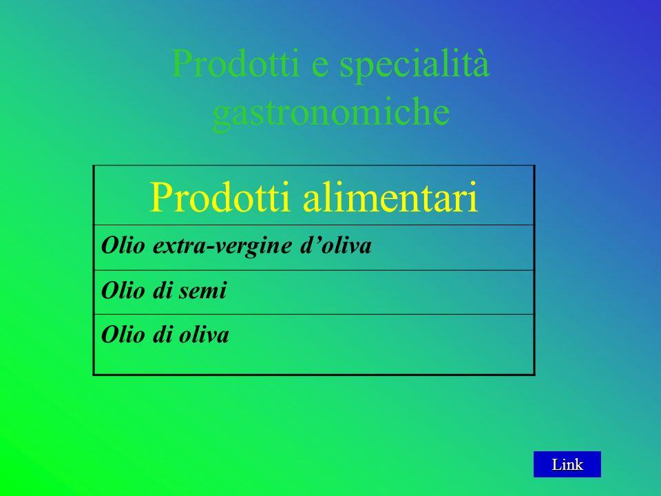 Prodotti e specialità gastronomiche Prodotti alimentari Olio extra-vergine doliva Olio di semi Olio di oliva Link