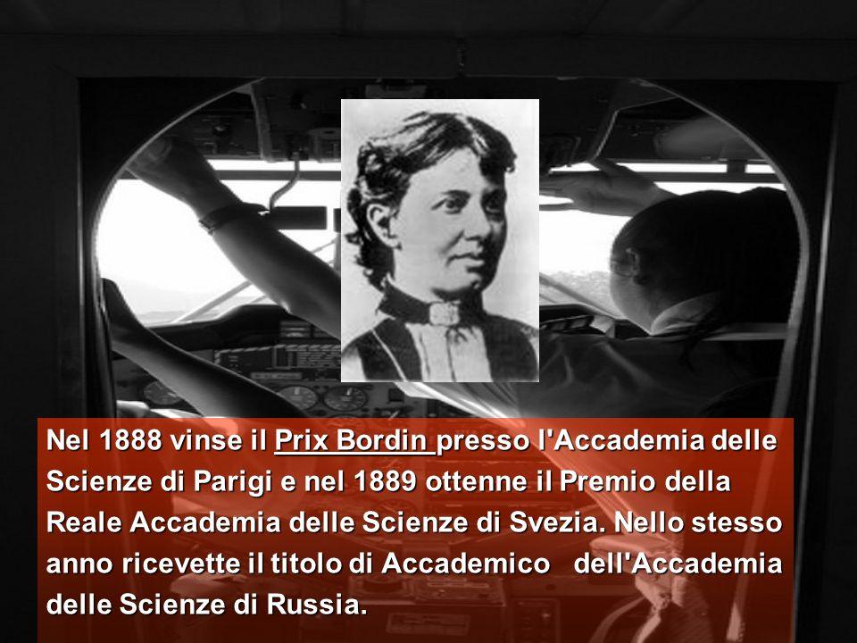 Sof ja Vasil evna Kovalevskaja, fu la prima donna russa matematico e fisico, ed anche la prima donna in Europa ad ottenere una cattedra universitaria (1889, Svezia).