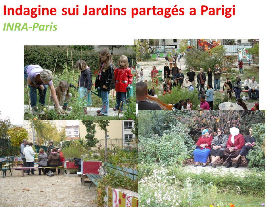 Indagine sui Jardins partagés a Parigi INRA-Paris …che riflette quella del quartiere!