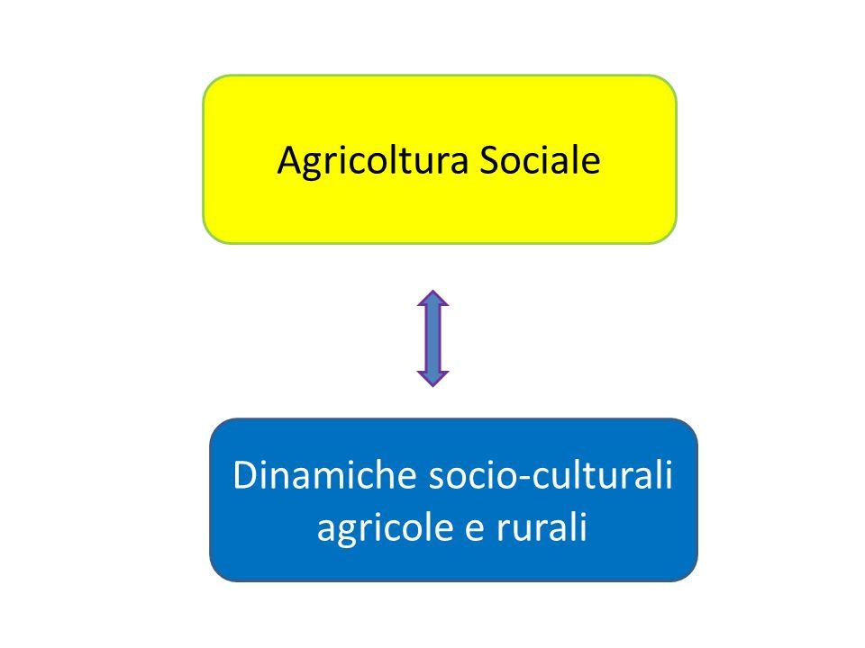 Agricoltura Sociale Dinamiche socio-culturali agricole e rurali