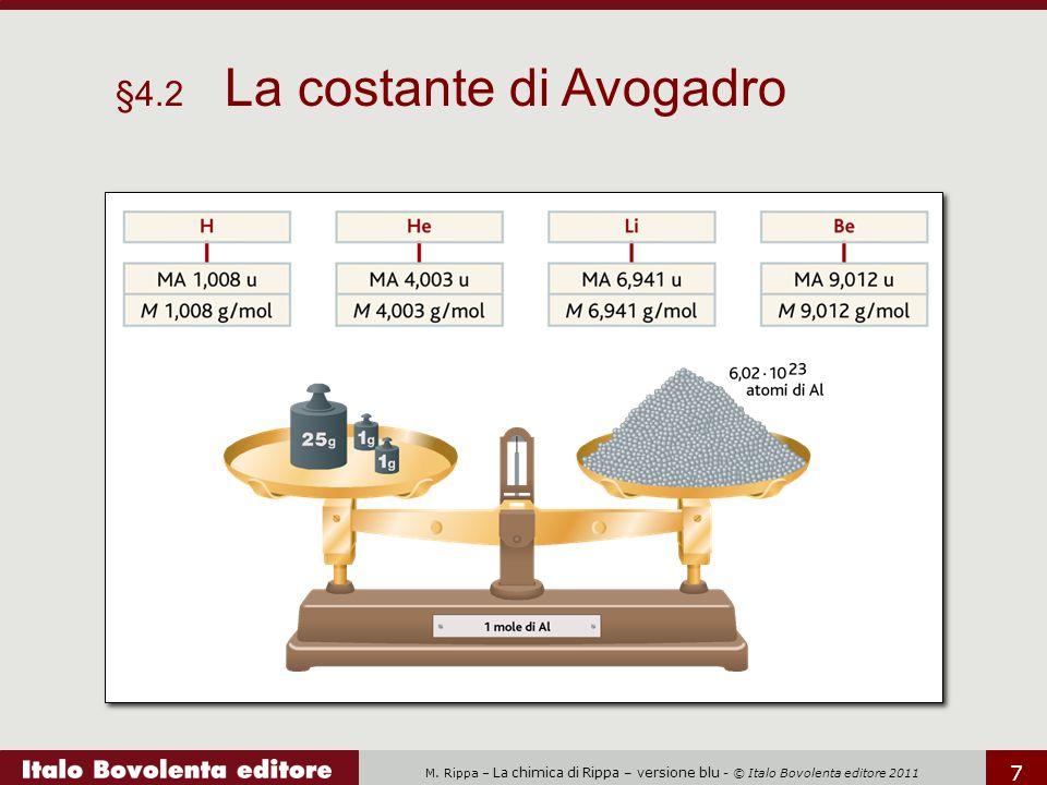 M. Rippa – La chimica di Rippa – versione blu - © Italo Bovolenta editore 2011 7 §4.2 La costante di Avogadro