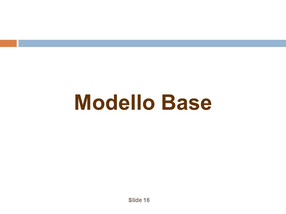 Slide 16 Modello Base
