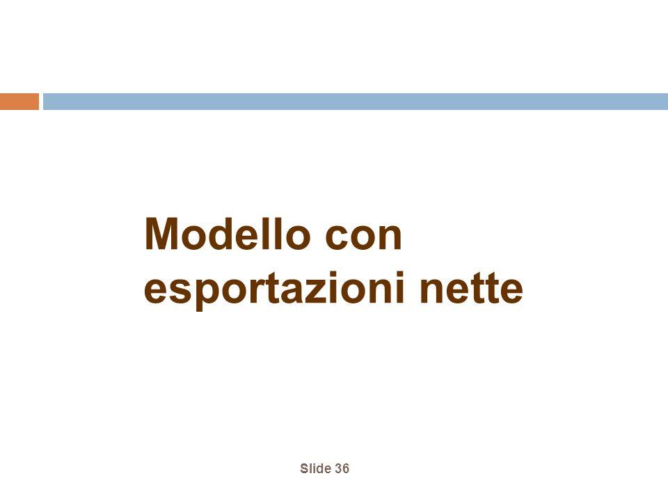 Slide 36 Modello con esportazioni nette