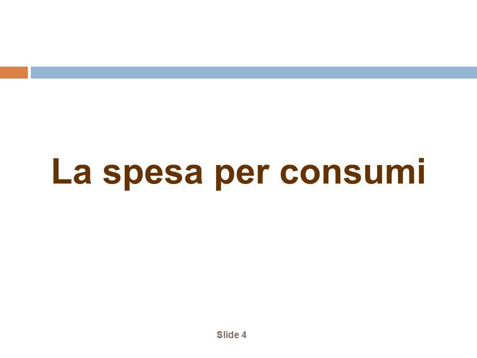 Slide 4 La spesa per consumi