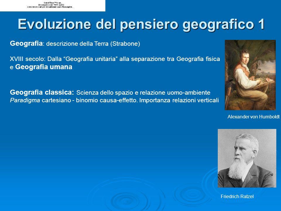 Geografia : descrizione della Terra (Strabone) XVIII secolo: Dalla Geografia unitaria alla separazione tra Geografia fisica e Geografia umana Geografi