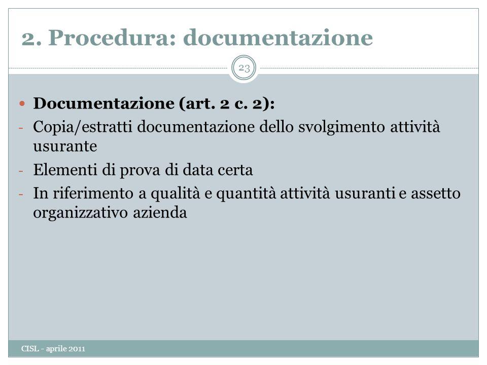 Documentazione (art.2 c.