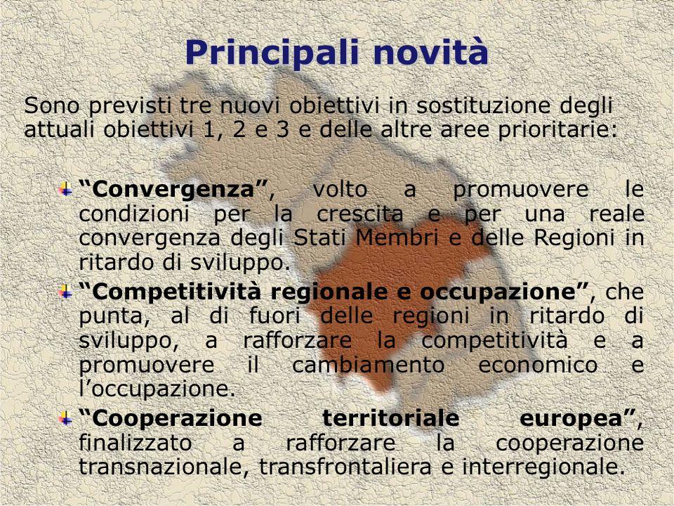 Priorità di intervento per lobiettivo Competitività regionale e Occupazione finanziate dal FESR A) F.E.S.R.