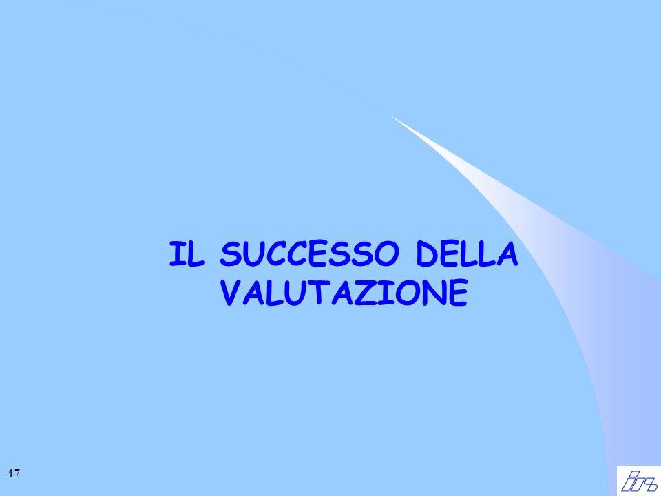47 IL SUCCESSO DELLA VALUTAZIONE
