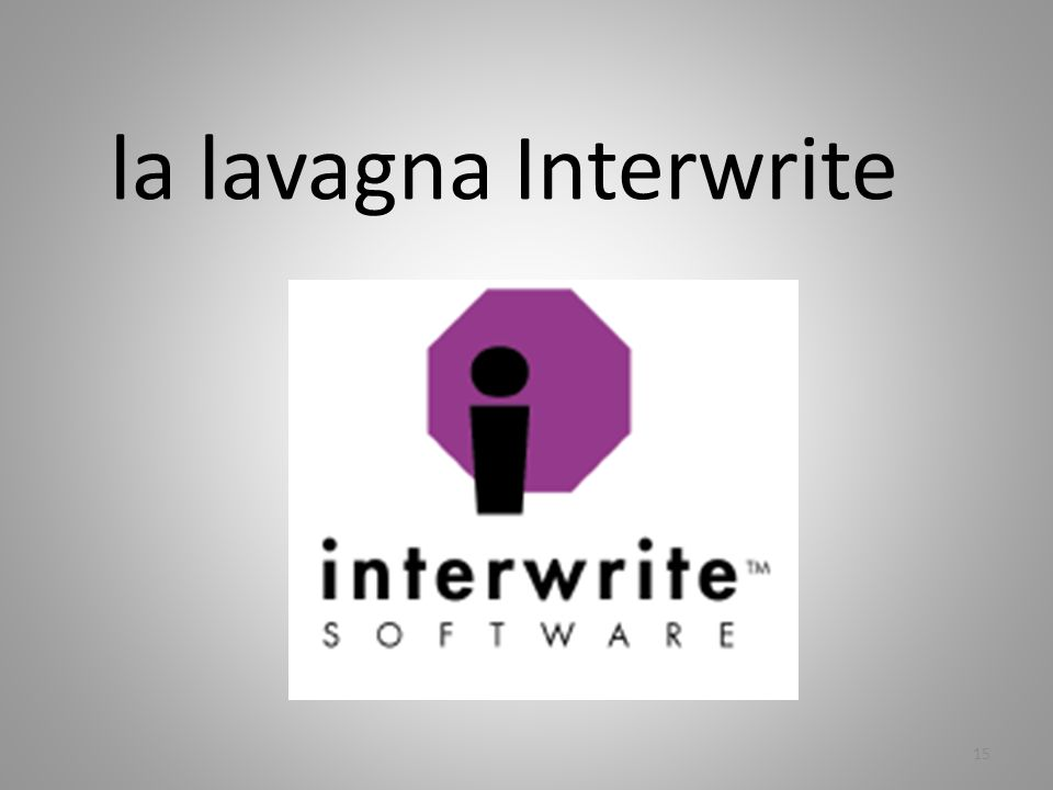 la lavagna Interwrite 15