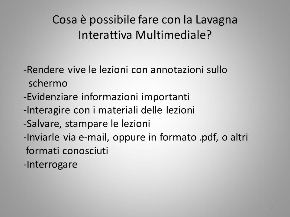 17 Le presentazioni effettuate con la lavagna sfruttano il software InterWrite, compatibile con tutte le applicazioni Windows e ( dopo numerosi tentativi e contatti con la concessionaria )anche con Linux Ubuntu/Fuss.