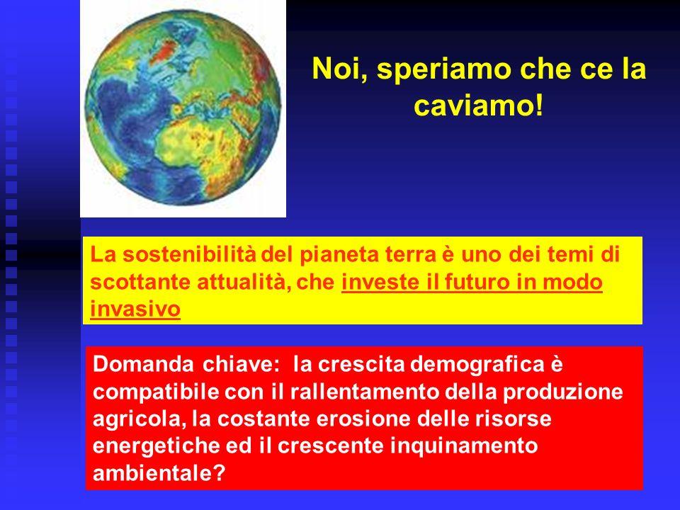 Morte … di Venezia La Repubblica (25.8.2006) Si può stimare il tempo di dimezzamento: 40 anni Adottando il modello di Malthus … Pari al tempo di raddoppio della popolazione mondiale