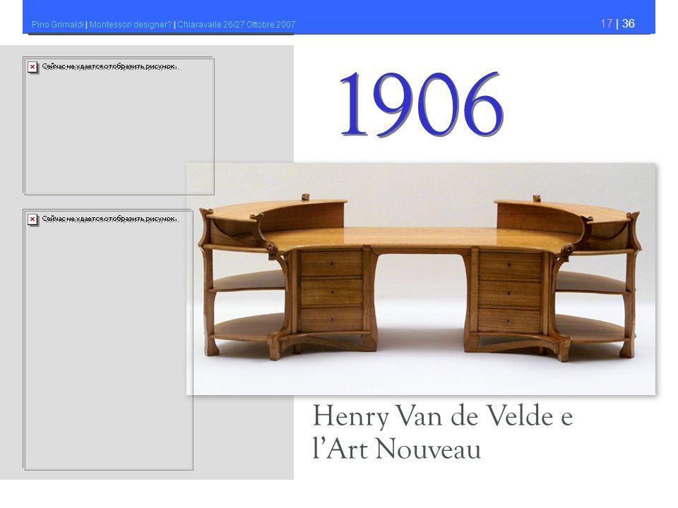 Pino Grimaldi | Montessori designer? | Chiaravalle 26/27 Ottobre 2007 17 | 36 Henry Van de Velde e lArt Nouveau 1906