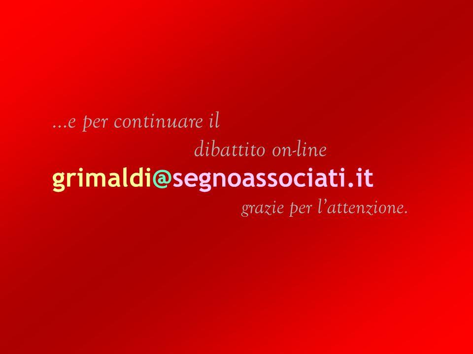 Pino Grimaldi | Montessori designer? | Chiaravalle 26/27 Ottobre 2007 37 | 36 …e per continuare il dibattito on-line grimaldi@segnoassociati.it grazie