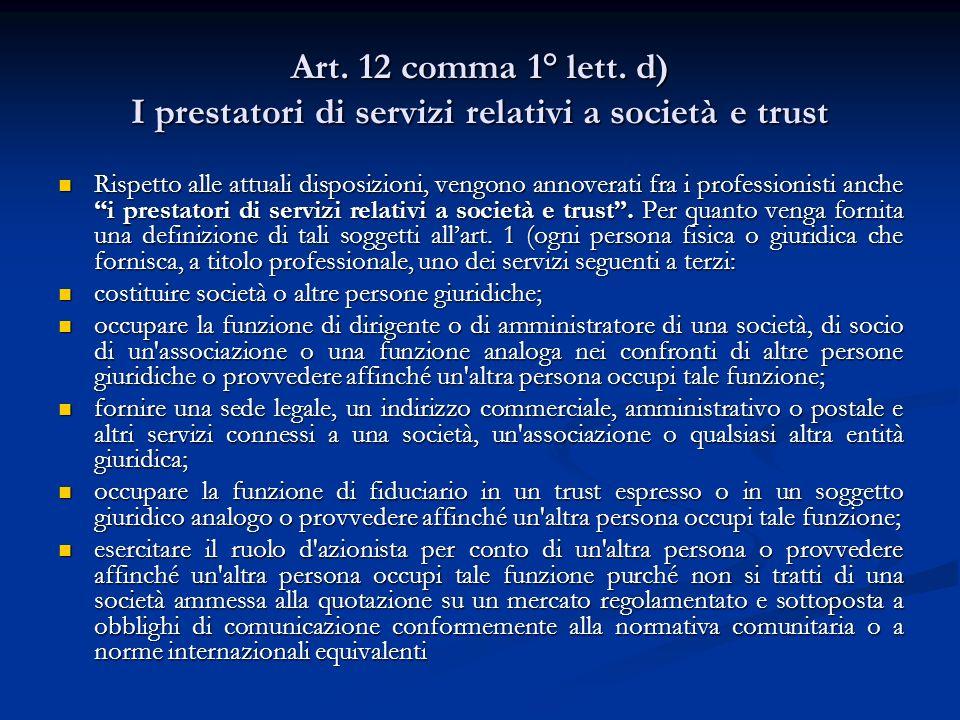 Art.12 comma 1° lett.