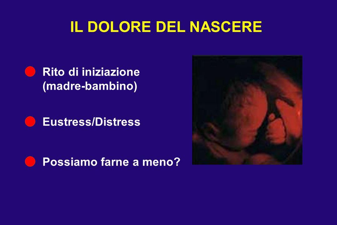 IL DOLORE DEL NASCERE Rito di iniziazione (madre-bambino) Eustress/Distress Possiamo farne a meno?