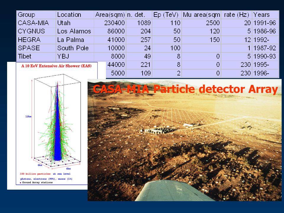 CASA CASA-MIA Particle detector Array