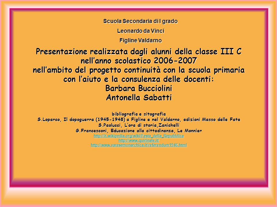 Presentazione realizzata dagli alunni della classe III C nellanno scolastico 2006-2007 nellambito del progetto continuità con la scuola primaria con l