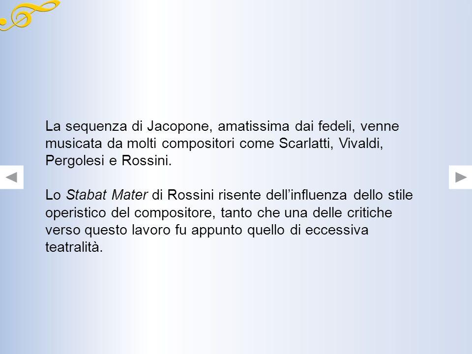 Alla morte del vescovo, un editore francese ritrovò la sequenza e chiese il consenso di pubblicazione a Rossini. A quel punto il compositore la revisi