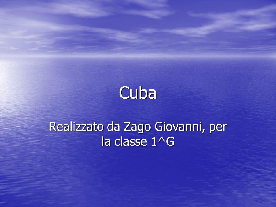 Cuba Realizzato da Zago Giovanni, per la classe 1^G