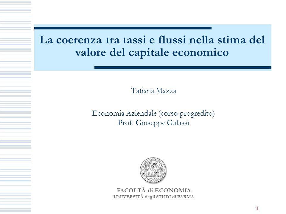 1 Tatiana Mazza Economia Aziendale (corso progredito) Prof.