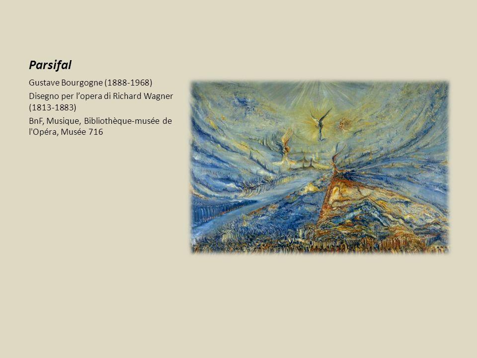Parsifal Gustave Bourgogne (1888-1968) Disegno per lopera di Richard Wagner (1813-1883) BnF, Musique, Bibliothèque-musée de l'Opéra, Musée 716