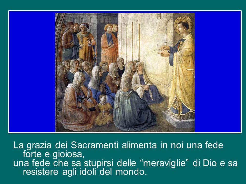 In questo modo, i Sacramenti ci spingono ad essere missionari, e limpegno apostolico di portare il Vangelo in ogni ambiente, anche in quelli più ostil