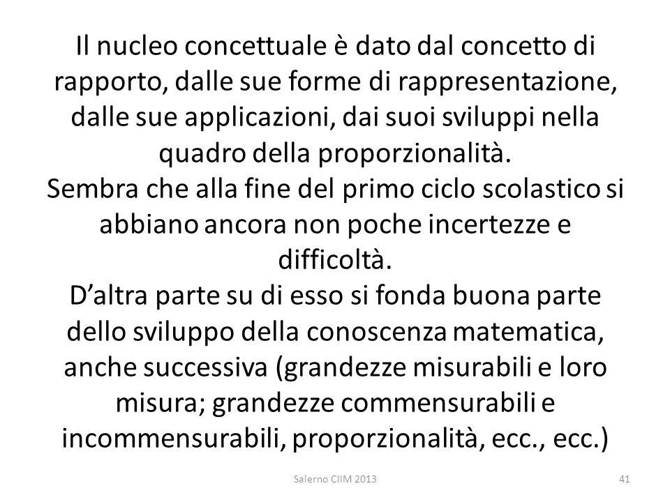 Il nucleo concettuale è dato dal concetto di rapporto, dalle sue forme di rappresentazione, dalle sue applicazioni, dai suoi sviluppi nella quadro del
