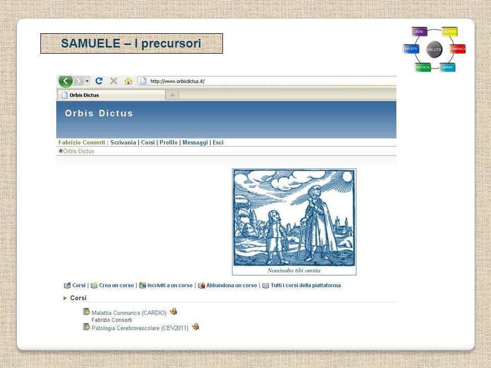 SAMUELE – I precursori
