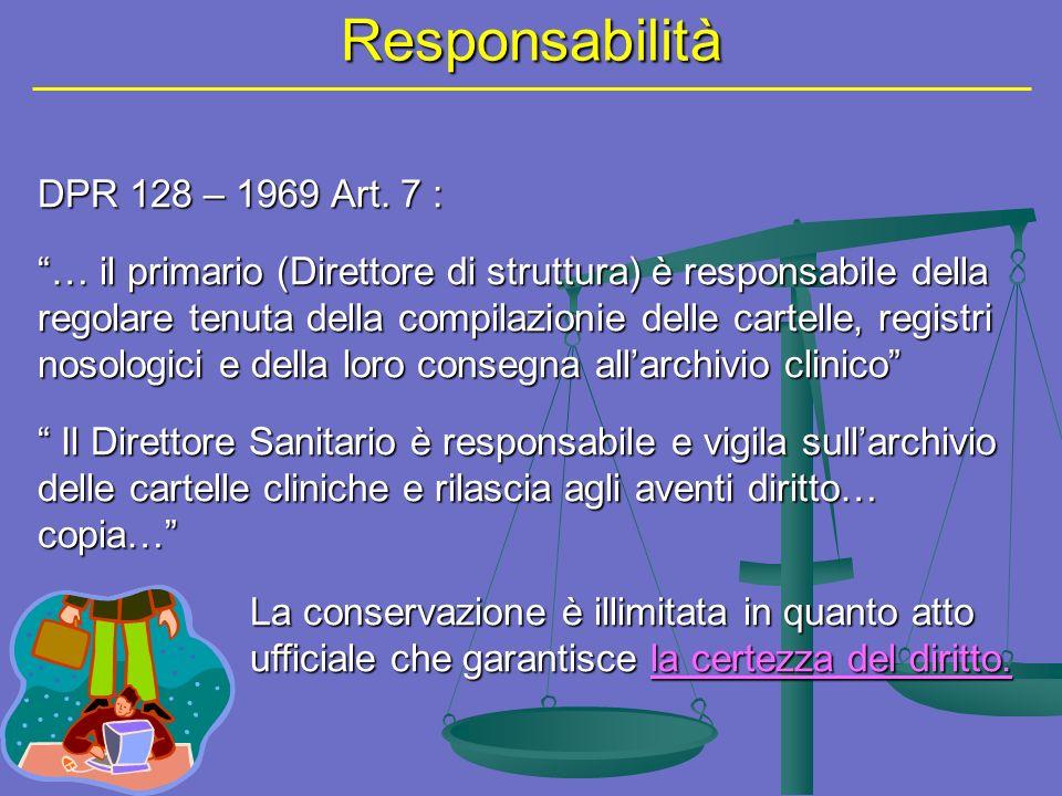 Responsabilità DPR 128 – 1969 Art.