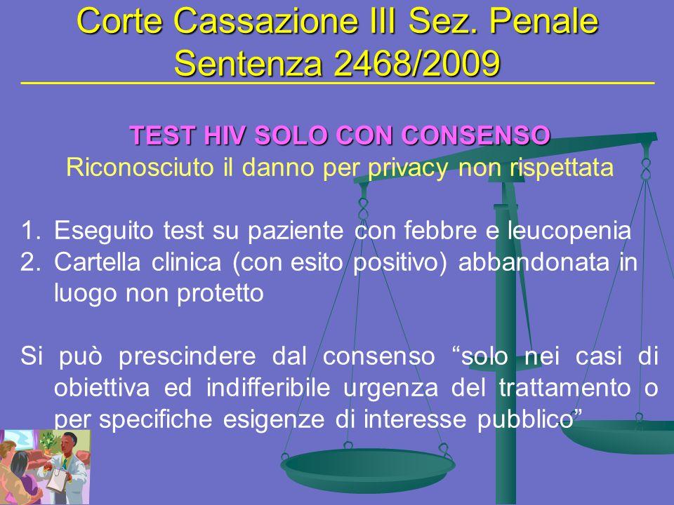 Corte Cassazione III Sez.