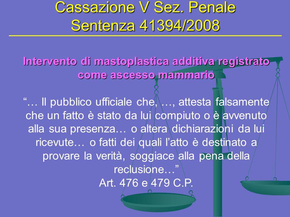 Cassazione V Sez.
