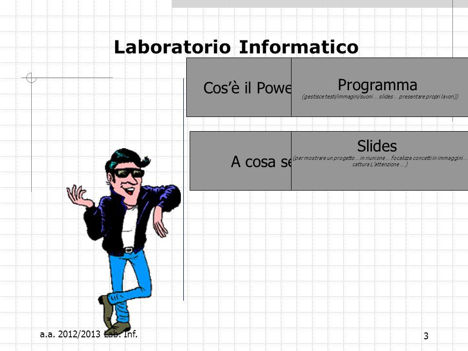 3 Laboratorio Informatico Cosè il PowerPoint .