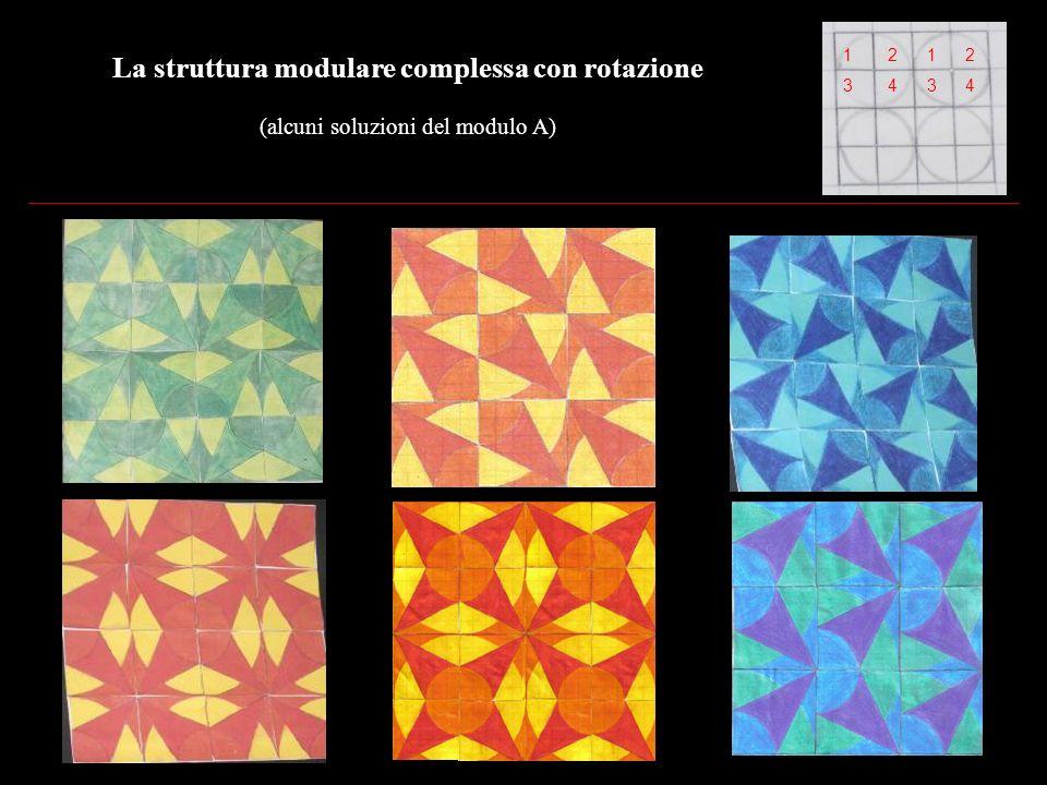 La struttura modulare complessa con rotazione (alcuni soluzioni del modulo B)