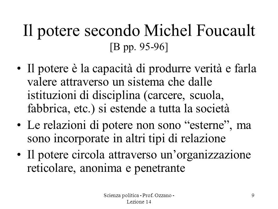Scienza politica - Prof.