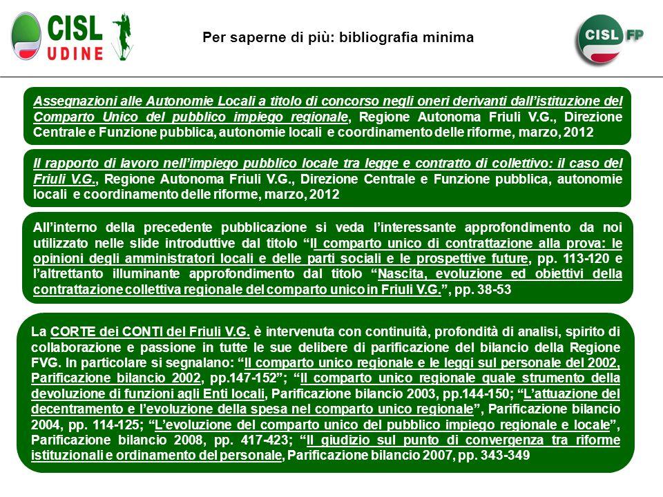 Assegnazioni alle Autonomie Locali a titolo di concorso negli oneri derivanti dallistituzione del Comparto Unico del pubblico impiego regionale, Regio
