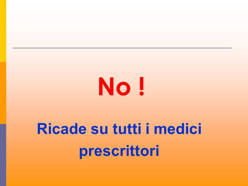 No ! Ricade su tutti i medici prescrittori