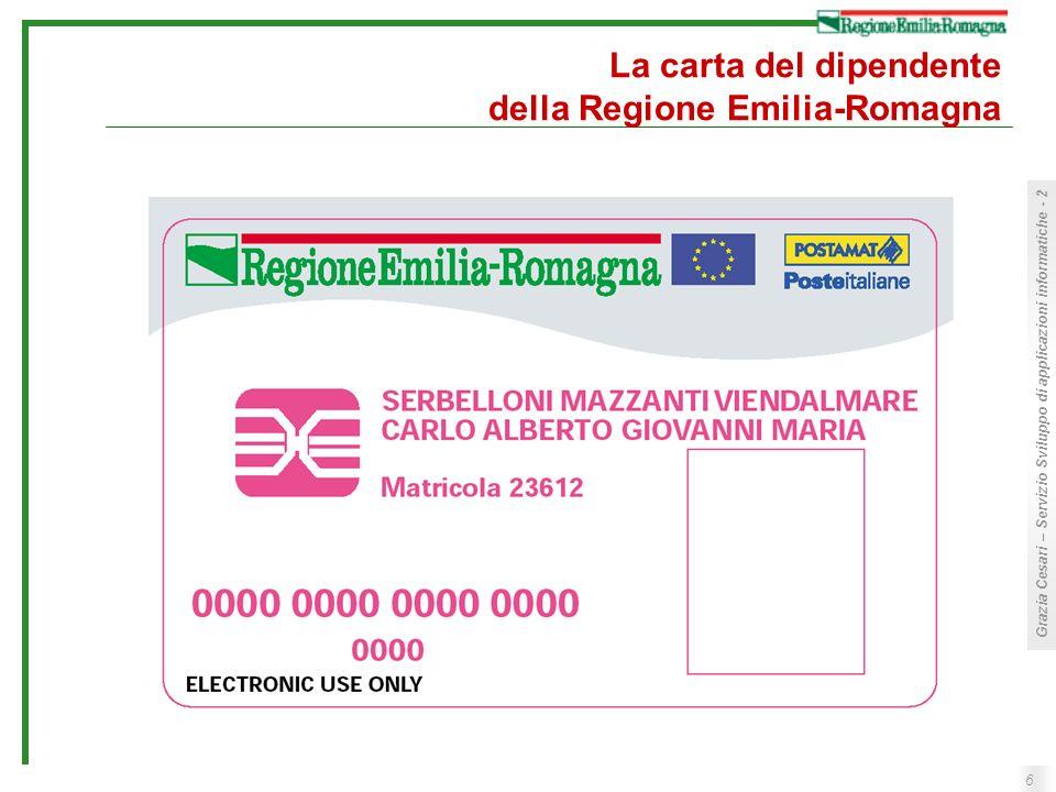 6 Grazia Cesari – Servizio Sviluppo di applicazioni informatiche - 2 La carta del dipendente della Regione Emilia-Romagna