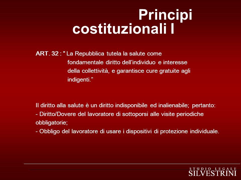 Principi costituzionali I ART.