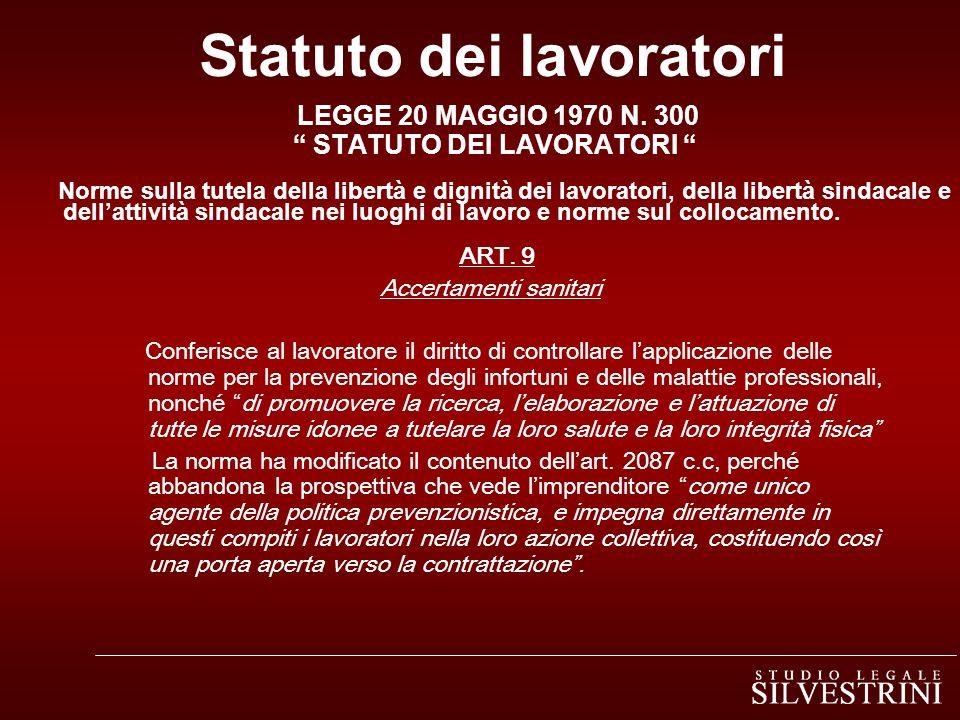 Statuto dei lavoratori LEGGE 20 MAGGIO 1970 N.