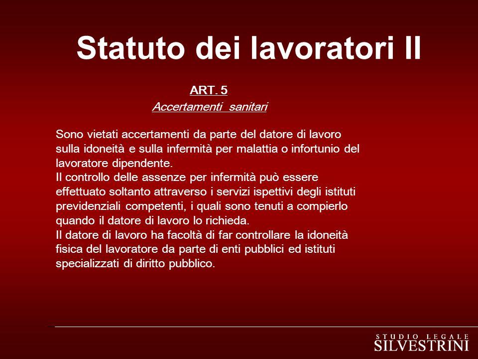 Statuto dei lavoratori III ART.