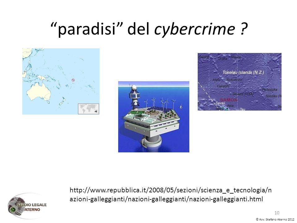 paradisi del cybercrime . © Avv.