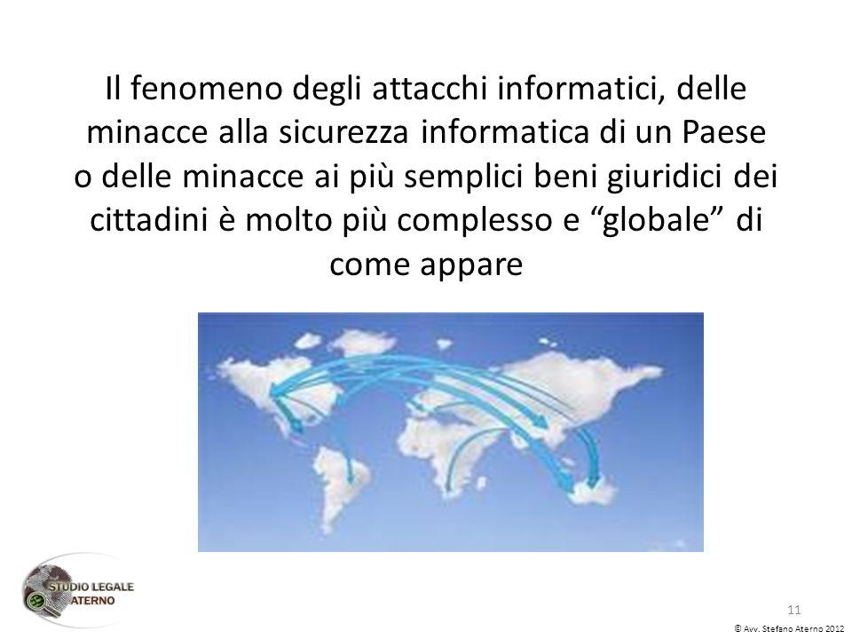 Il fenomeno degli attacchi informatici, delle minacce alla sicurezza informatica di un Paese o delle minacce ai più semplici beni giuridici dei cittadini è molto più complesso e globale di come appare © Avv.