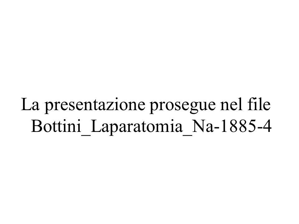 La presentazione prosegue nel file Bottini_Laparatomia_Na-1885-4