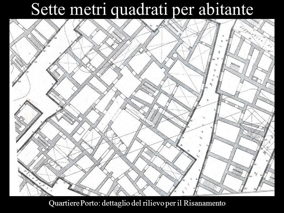 Sette metri quadrati per abitante Quartiere Porto: dettaglio del rilievo per il Risanamento