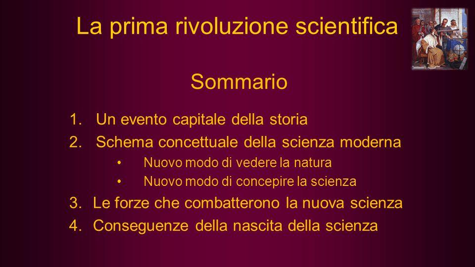 La prima rivoluzione scientifica