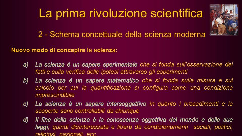 3 - Le forze che combatterono la nuova scienza La cultura tradizionale: La nuova scienza metteva in discussione consolidate concezioni cosmologiche e fisiche (per es.