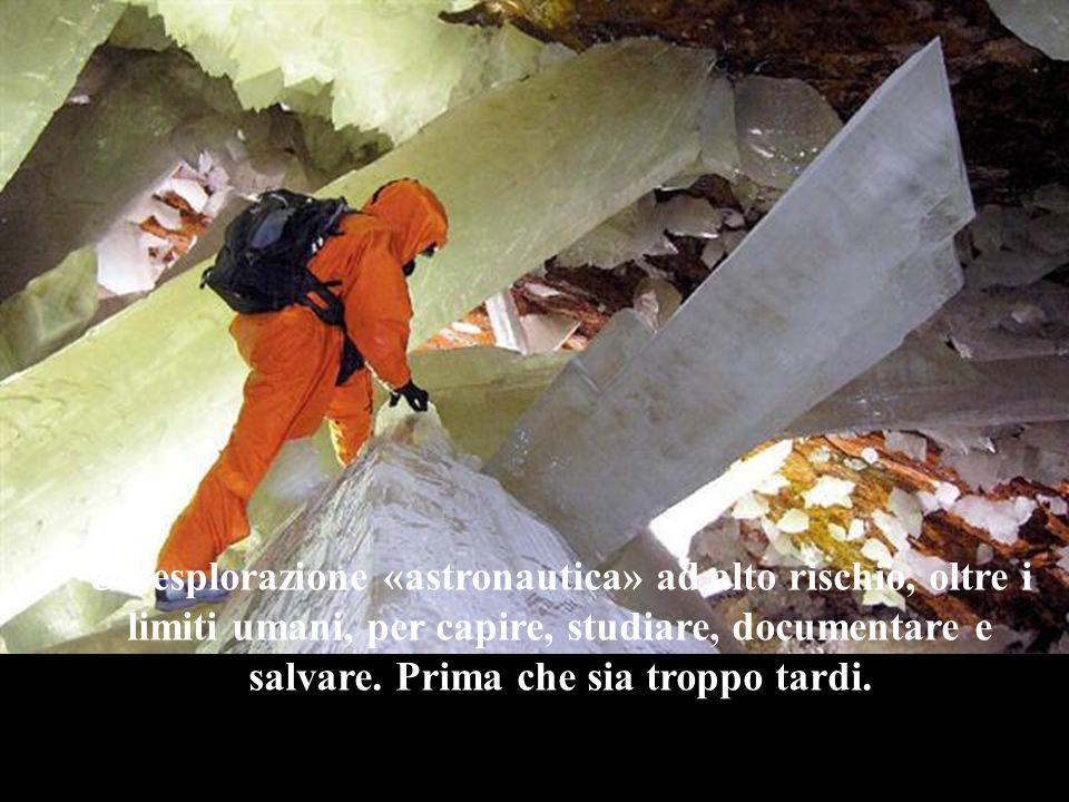 . La Grotta dei Cristalli è una piccola finestra nell'immensità del tempo geologico, che l'uomo ha oggi la fortuna di poter aprire grazie a una tecnol